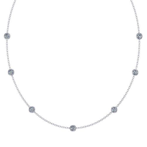 Glistening Diamond Station Necklace