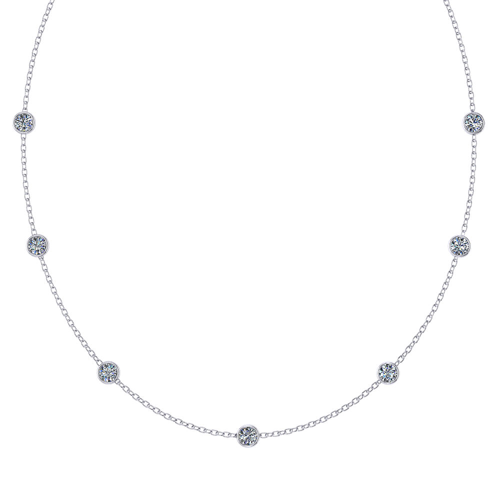 Glistening Diamond Station Necklace