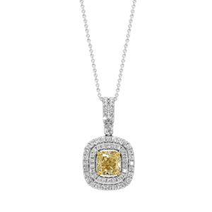 cushion-cut-yellow-diamond-necklace