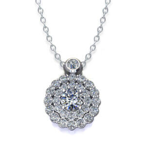 Tiered Diamond Cluster Necklace