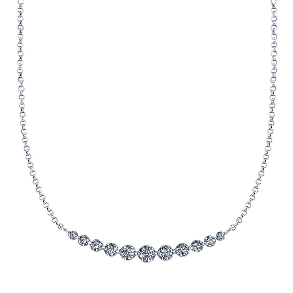 Graduated Diamond Necklace Jewelry Designs
