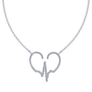 Diamond Heartbeat Necklace