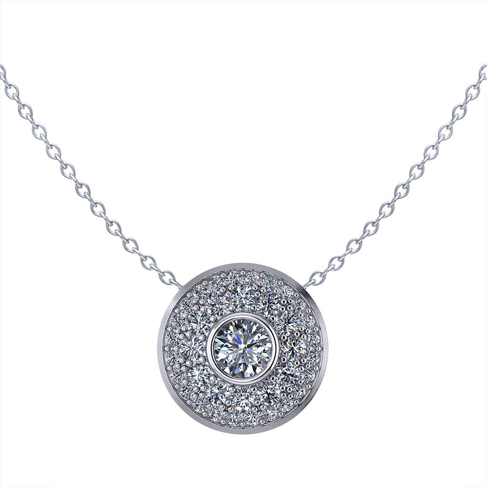 Pave Diamond Circle Necklace