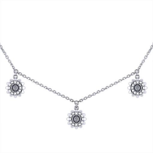 Jingle Diamond Daisy Necklace