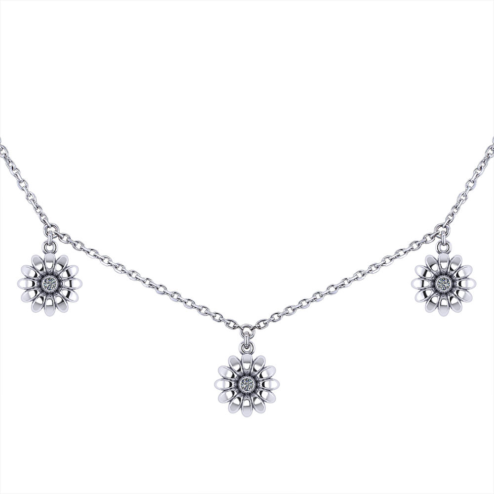 Jingle Diamond Daisy Necklace