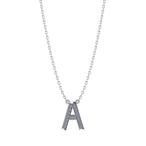 Diamond Letter A Necklace