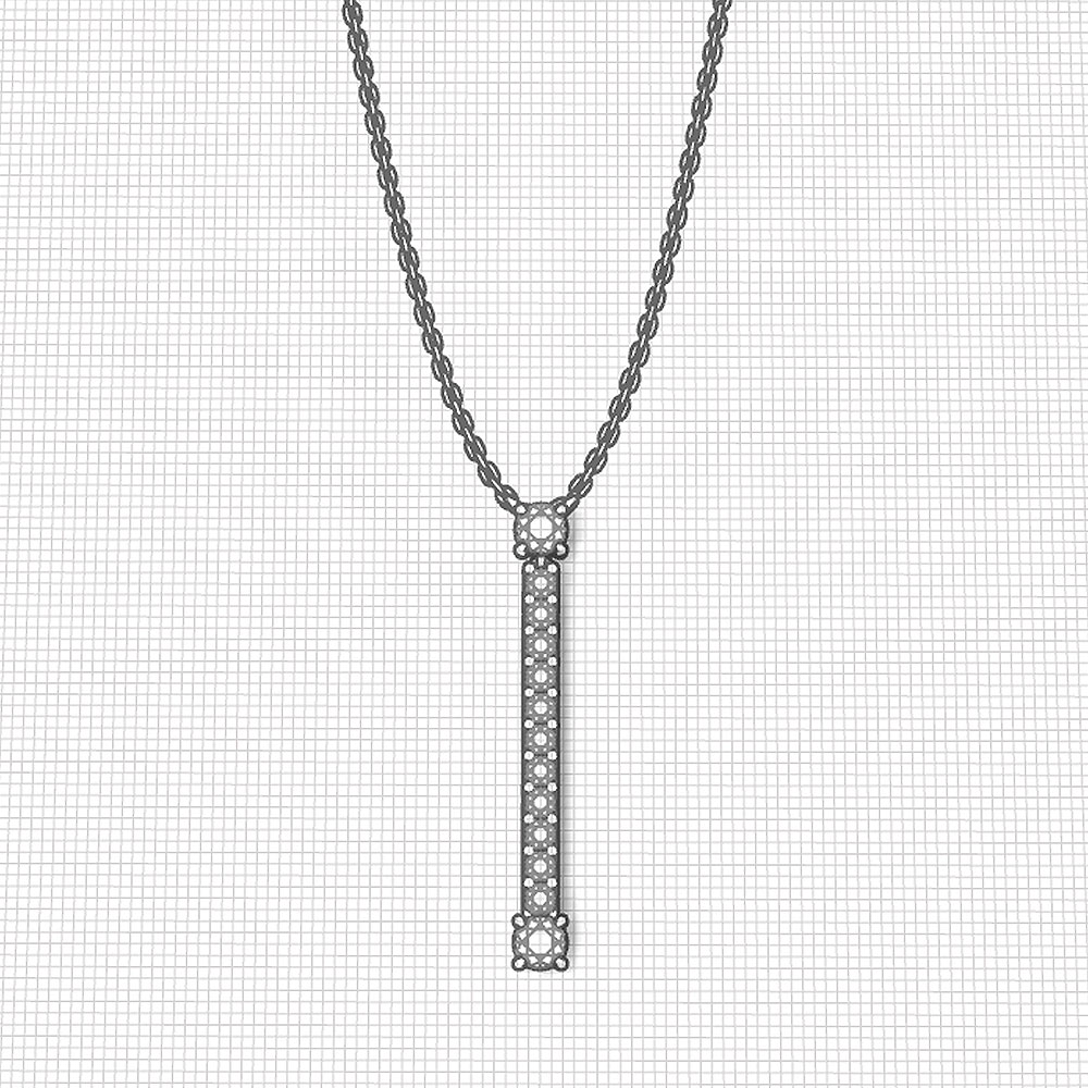 Long Diamond Y Necklace