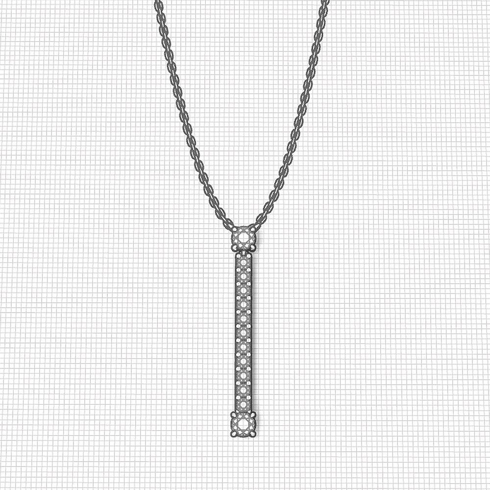Long Diamond Y Necklace