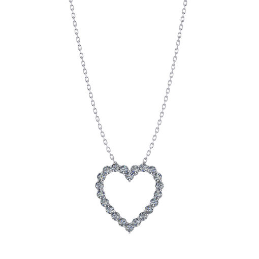 1 Inch Diamond Heart