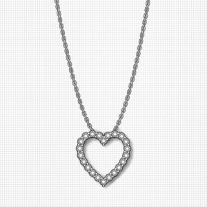 1 Inch Diamond Heart