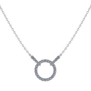 Sliding Diamond Circle Pendant