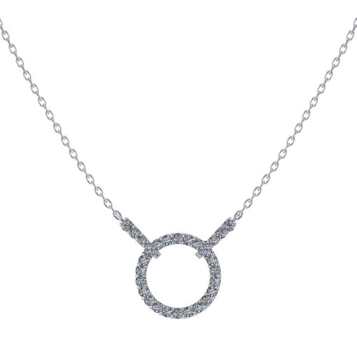 Sliding Diamond Circle Pendant