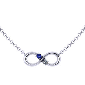 Birthstone Infinity Necklace