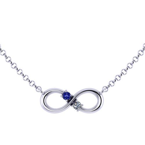 Birthstone Infinity Necklace