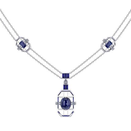 Artisan Sapphire Necklace