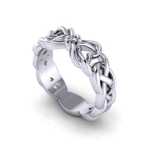 Woven Heart Promise Ring