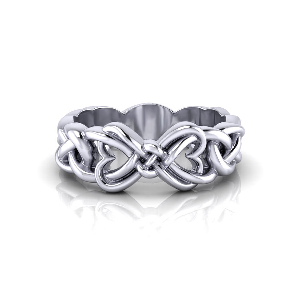 woven heart promise ring jewelry designs