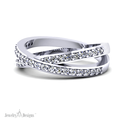 C148106 Crossover Diamond Band