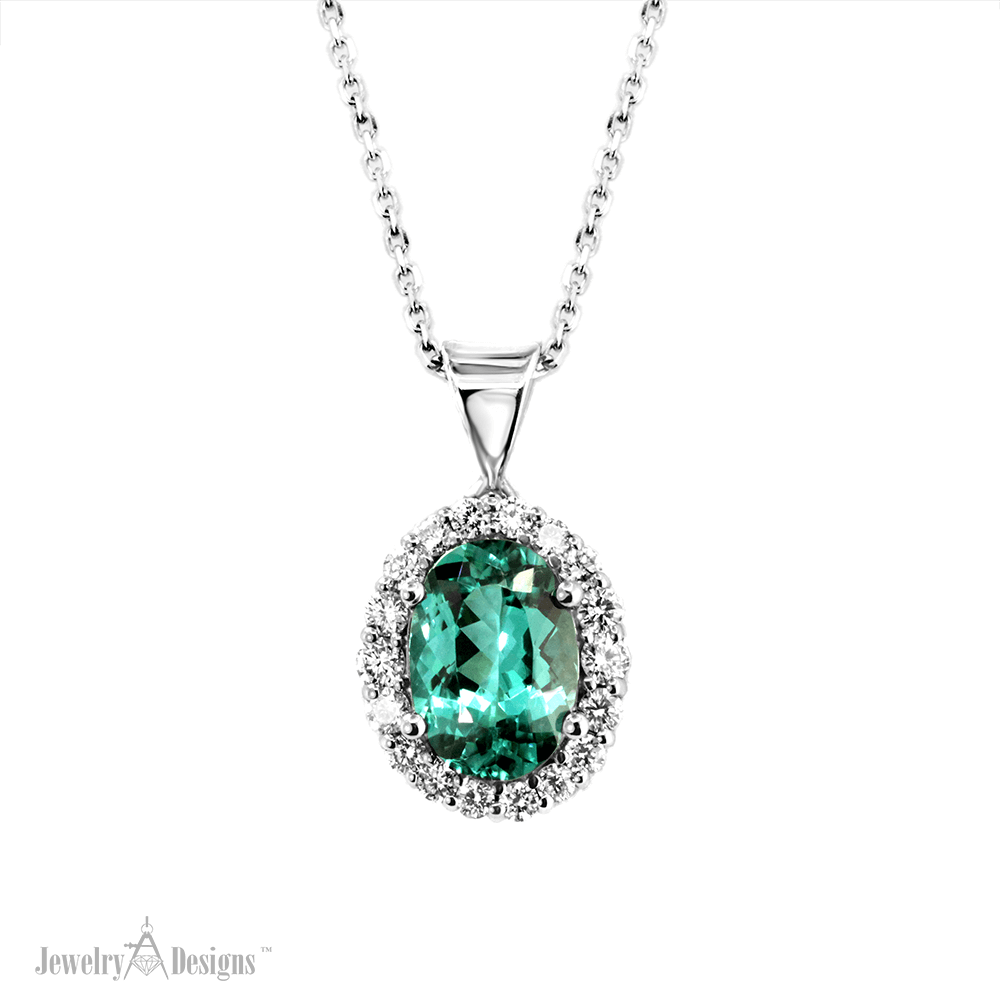 nc705 Green Tourmaline Necklace