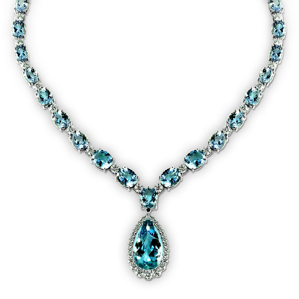 Aquamarine Necklaces: Aquamarine Necklace