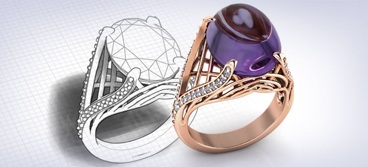 Custom Amethyst Rings