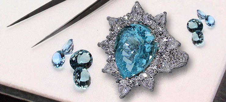 Custom Aquamarine Rings