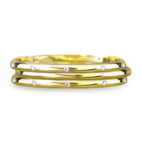 Half Round Gypsy Set Diamond Bracelet