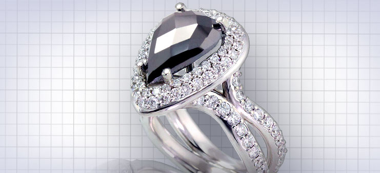 Custom Black Diamond Rings