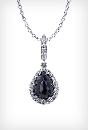 Diamond necklace jewelry designs black diamond necklace a mozeypictures Images