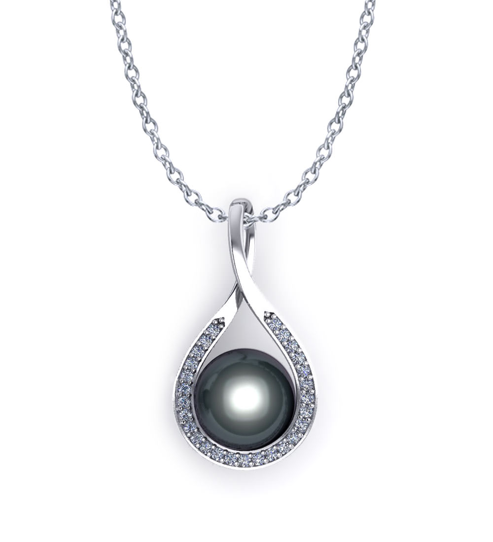 artistic pearl necklace black tahitian product jewelry designs