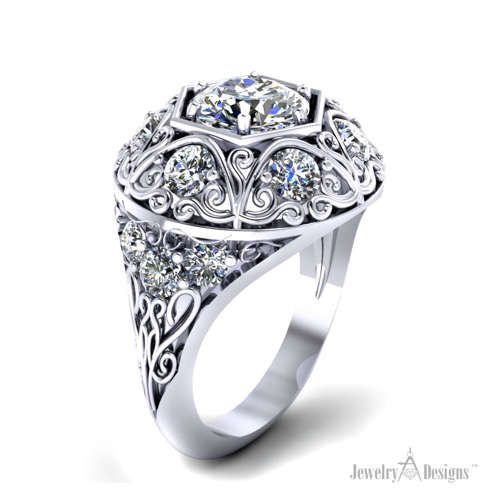 c146246 Diamond Dome Ring