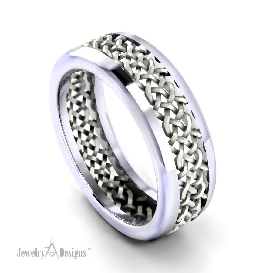cad122 Men's Mesh Wedding Ring