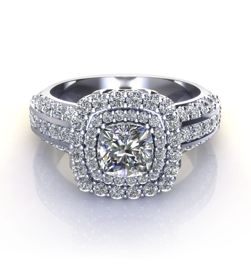 Cushion Cut Engagement Rings Jewelry Designs