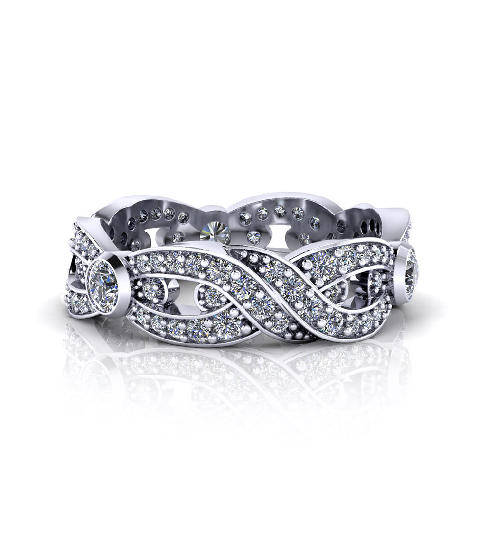 infinity wedding rings infinity wedding band diamond infinity wedding rings IWRLP 1