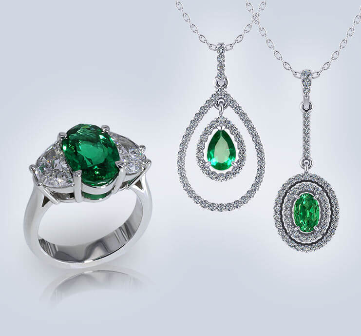 Browse Emerald Jewelry