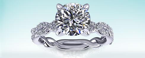 Round Engagement Ring