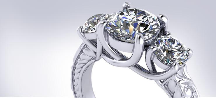 3 Stone Engagement Rings