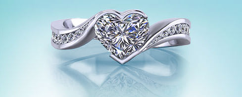 Heart Engagement Rings