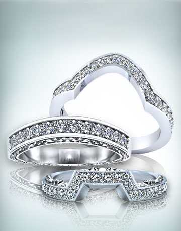 Custom Fitted Wedding Rings