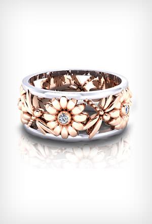 Floral Wedding Rings