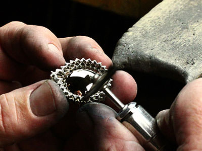 Hand Polishing Jewelry