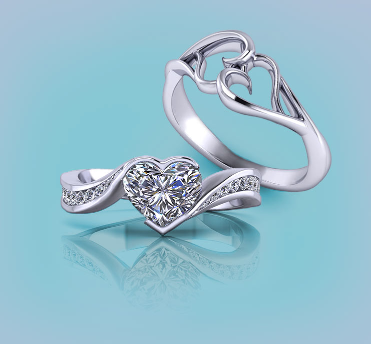 Browse Heart Rings