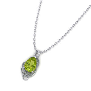 Tear Drop Peridot Pendant