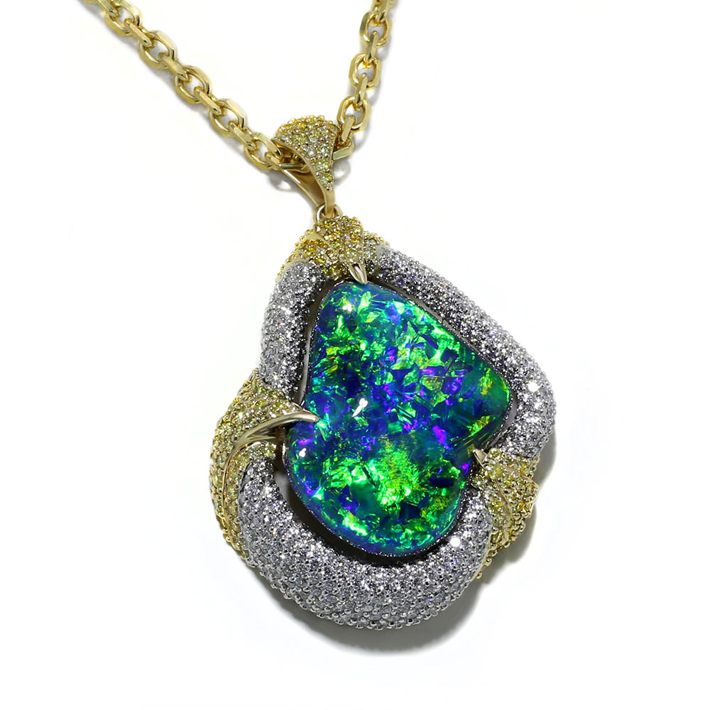Opal necklace jewelry designs opal necklace aloadofball Image collections