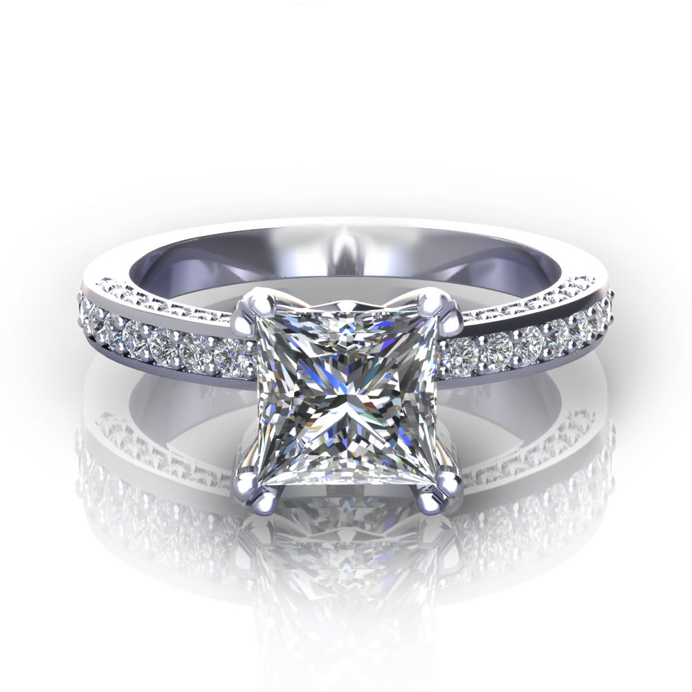Diamond Alternative Engagement Rings