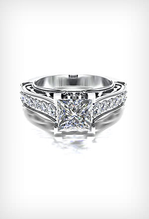 Princess <br>Engagement Rings