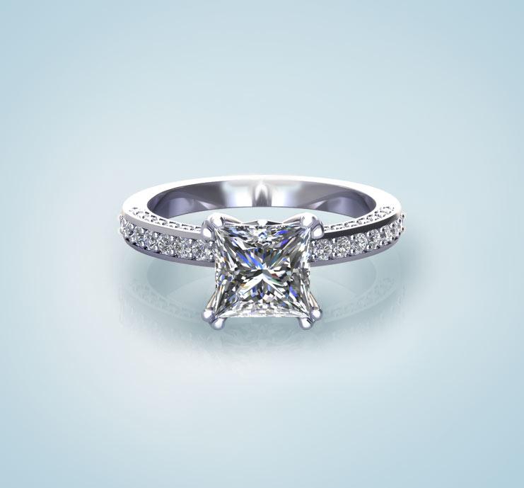 Princess Engagement Rings