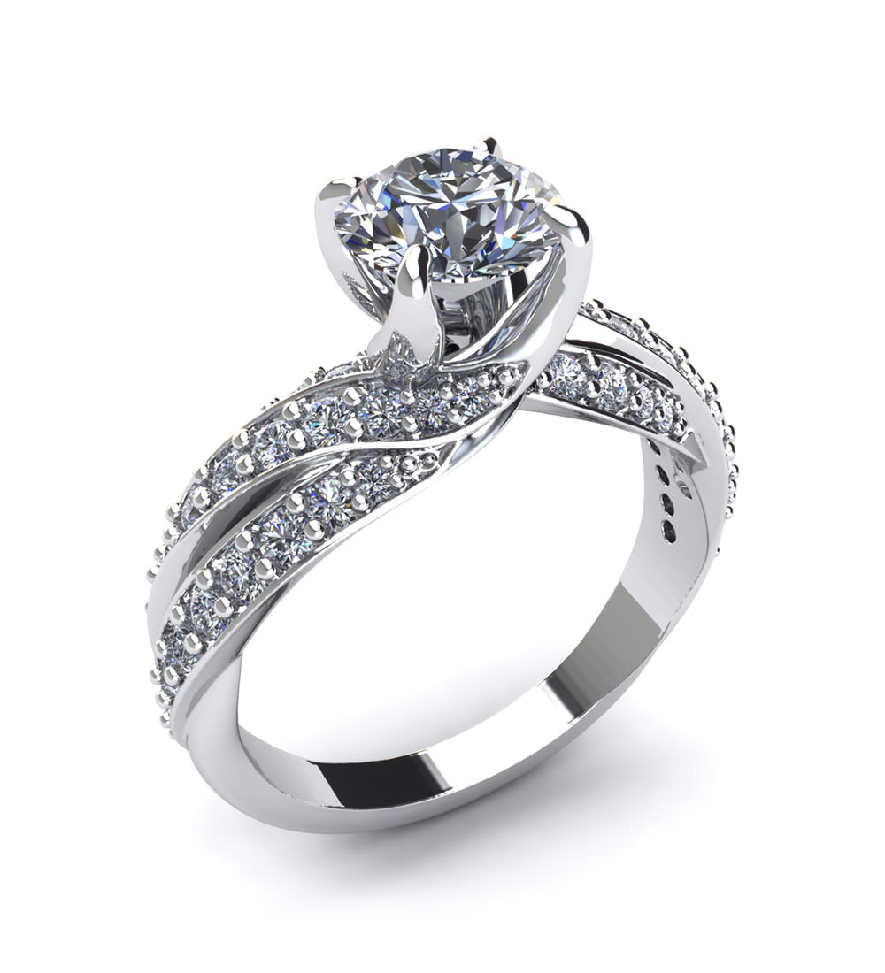 round engagement rings jewelry designs
