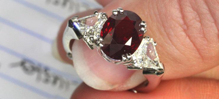 Custom Ruby Rings