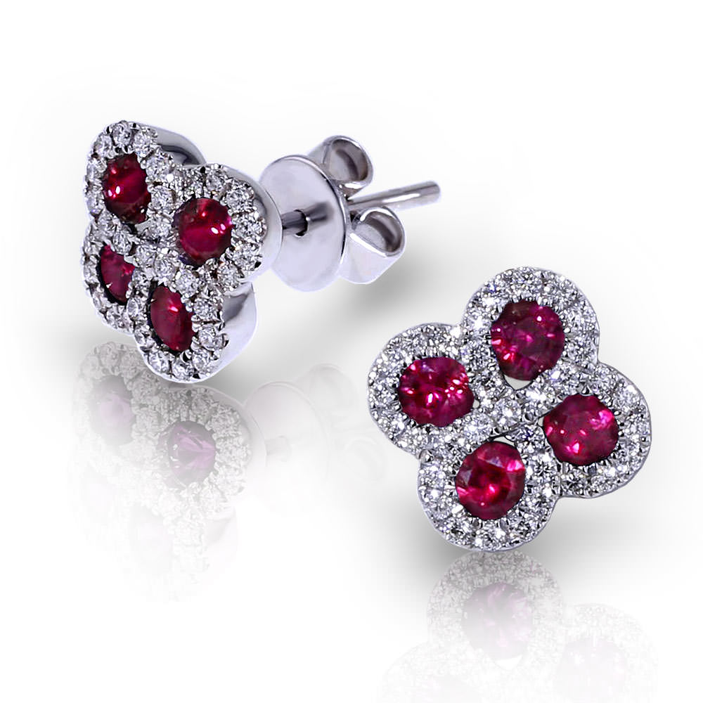 ruby earrings. Black Bedroom Furniture Sets. Home Design Ideas
